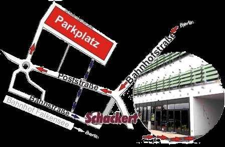 Anfahrt Bahnhofstr 87